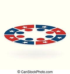Team USA meeting people logo