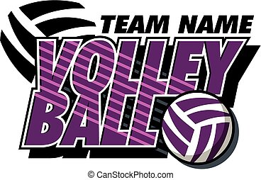 volleyball design - team volleyball design with ball and...