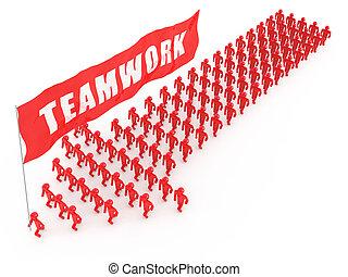Team walking forward