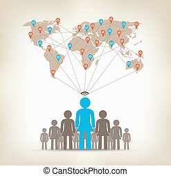 Team women global communication