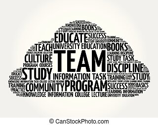 TEAM word cloud, business concept background
