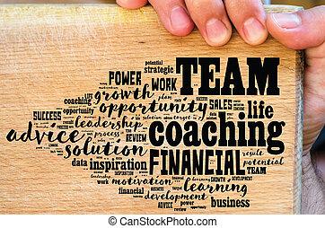 Team word cloud collage