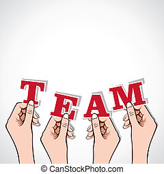 team word in hand