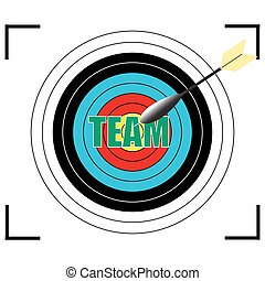 Team word Vector, business concept.