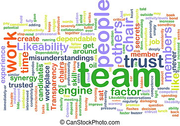 Team wordcloud - Word cloud concept illustration of people...
