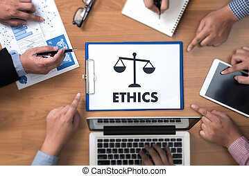 Team work and team  ethics Justice Law Order Legal