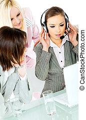 team work businesswomen