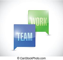 team work communication illustration design over a white...