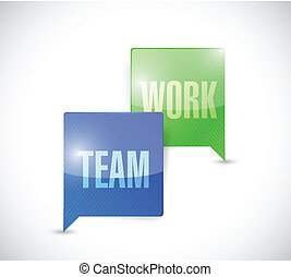 team work communication illustration design over a white...