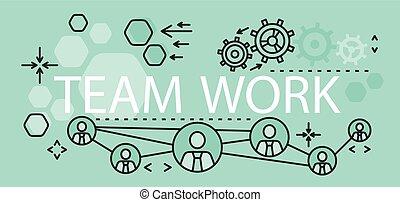 Team Work Concept Banner Design