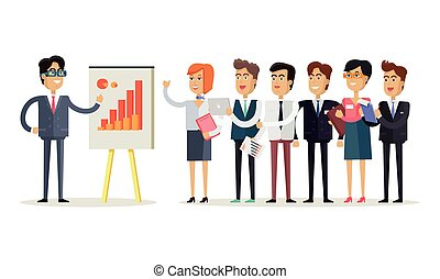 Team Work Concept Illustration in Flat Design.