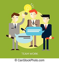 Team Work Conceptual illustration Design