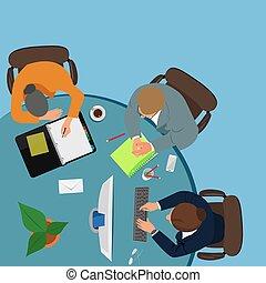 team work, creative people, vector