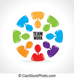 team work design over white background vector illustration