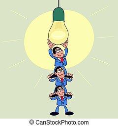 Team work illustration 2