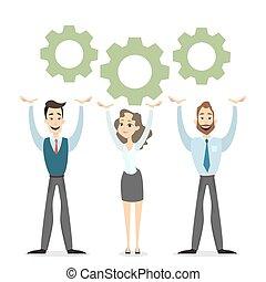Team work illustration.