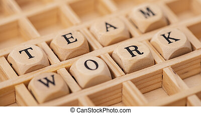team work in wordcloud