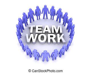 Team work. People circle.