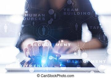 teambuilding., 資源, 求人, 時間, リーダーシップ, 人間, 管理