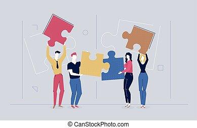 Teambuilding - modern flat design style colorful illustration