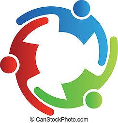 teamwork, 3, vector, omhelzen