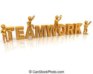 Teamwork. 3d