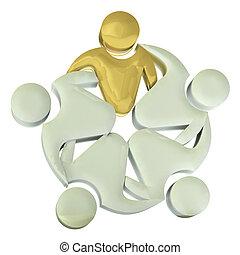 Teamwork 3D hug people logo