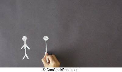 Teamwork - A person drawing a teamwork illustration with...