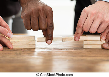 teamwork, albo, budowa mosty, pojęcie