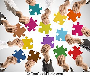 Teamwork and integration concept - Concept of teamwork and ...