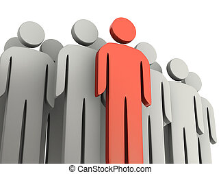 Teamwork and leadership concepts