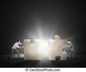 Teamwork and partnership concept
