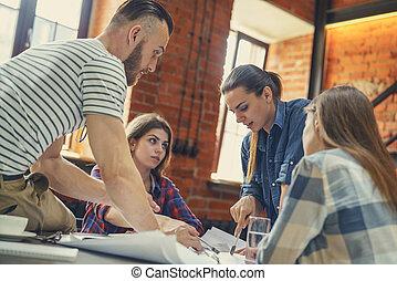 Teamwork at meeting
