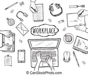 Teamwork at shared work environment