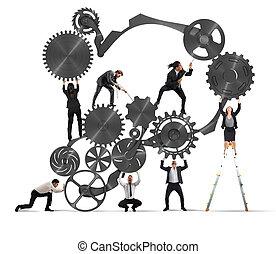 teamwork, av, businesspeople