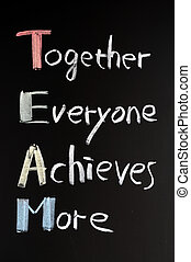 teamwork, begrepp, blackboard
