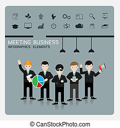 teamwork business Concept of Group of People Vector.