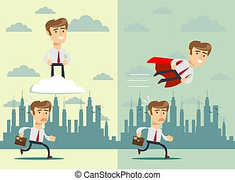 Teamwork. Business concept vector illustration