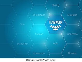 teamwork business diagram concept illustration design...