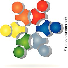 Teamwork business icon logo