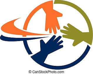 Teamwork Business Logo Design Template Vector