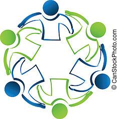 Teamwork business people logo - Teamwork business people...