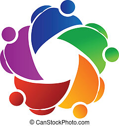 Teamwork business people logo