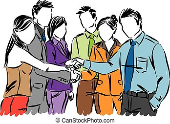 teamwork business people vector illustration