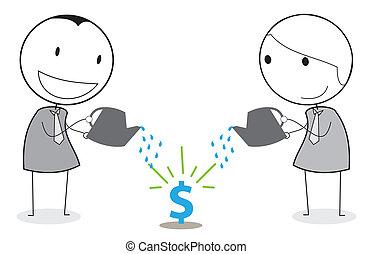 teamwork businessman investment