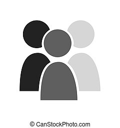 teamwork businessmen silhouette icon