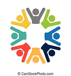 teamwork businessmen silhouette icon