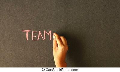 Teamwork Chalk Drawing