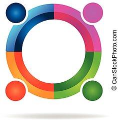 Teamwork circle logo