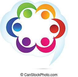 Teamwork cloud people logo
